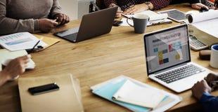 Zaken Team Working Office Worker Concept royalty-vrije stock foto's