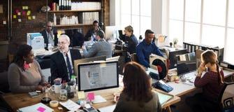 Zaken Team Working Office Worker Concept stock foto's