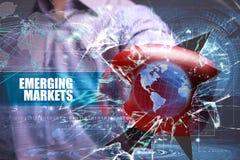 Zaken technologie Internet marketing Nieuwe markten stock foto