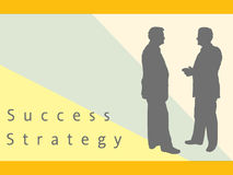 Zakenlieden die Strategie en Succes bespreken Royalty-vrije Stock Afbeelding