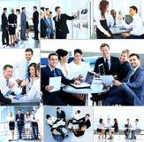 Zakenlui die vergadering hebben Stock Foto