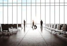 Zakenlui in luchthaven stock fotografie
