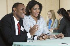 Zakenlui op Conferentievergadering royalty-vrije stock foto