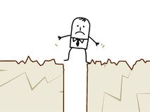 Zakenman & aardbeving Stock Afbeelding