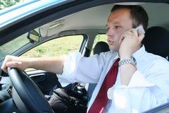 Zakenman in auto Royalty-vrije Stock Afbeeldingen