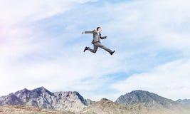 Zakenman in beweging Stock Fotografie