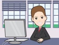 Zakenman bij een bureau Stock Foto's