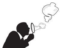 Zakenman Blowing Bubbles royalty-vrije illustratie