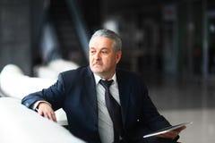 Zakenman in bureau Royalty-vrije Stock Foto's