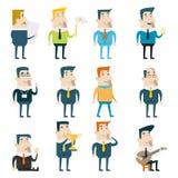 Zakenman Cartoon Characters Business en stock illustratie