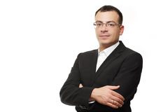 Zakenman of CEO slim geïsoleerd acteren Royalty-vrije Stock Afbeelding