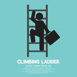 Zakenman Climbing Ladder stock illustratie