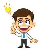 Zakenman Creative Idea royalty-vrije illustratie