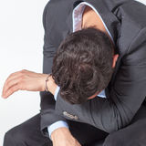 Zakenman Crying stock foto
