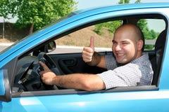 Zakenman in de auto Stock Foto