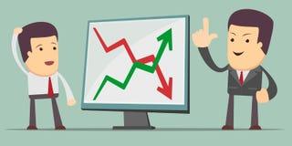 Zakenman die bedrijfs de groeigrafiek voorleggen Royalty-vrije Stock Fotografie