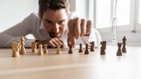 Zakenman die bedrijfsstrategie creëren royalty-vrije stock afbeeldingen