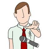 Zakenman die de microfoon laten vallen Stock Afbeeldingen