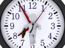 Zakenman die de tijd loopt te vangen stock illustratie