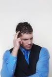 Zakenman die een overhemd en een taillelaag draagt Royalty-vrije Stock Fotografie