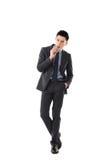 Zakenman die een sigaar houden royalty-vrije stock afbeeldingen