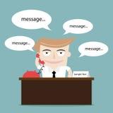 Zakenman die gebruikend telefoon spreken Royalty-vrije Stock Afbeeldingen