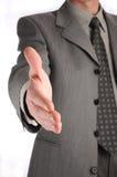 Zakenman die handdruk aanbiedt Royalty-vrije Stock Fotografie