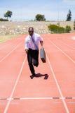 Zakenman die op een renbaan lopen Royalty-vrije Stock Foto
