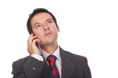 Zakenman die op zijn cellphone telefoneert Royalty-vrije Stock Foto