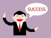 Zakenman die over succes denken vector illustratie