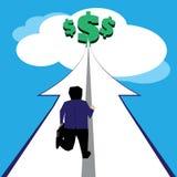 Zakenman die rijkdom bereiken Royalty-vrije Stock Afbeelding
