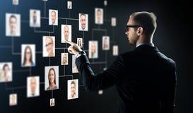 Zakenman die vinger richten aan Royalty-vrije Stock Afbeeldingen