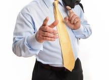 zakenman die voor handdruk aanbiedt Royalty-vrije Stock Afbeeldingen