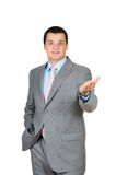 Zakenman die zich vol vertrouwen bevindt Stock Fotografie