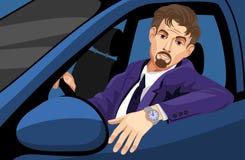Zakenman Driving Car stock illustratie