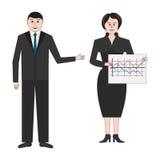 Zakenman en bedrijfsvrouwen Royalty-vrije Stock Afbeeldingen