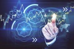 Zakenman en cyberspace Stock Afbeelding