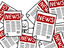 Zakenman en de advertenties van het NIEUWS Royalty-vrije Stock Afbeelding