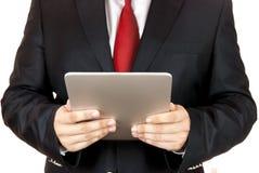 Zakenman en digitale tablet Stock Fotografie