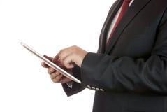 Zakenman en digitale tablet Royalty-vrije Stock Afbeelding