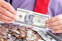 Zakenman en geld Royalty-vrije Stock Foto