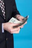 Zakenman en geld royalty-vrije stock foto's