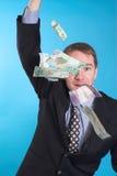 Zakenman en geld royalty-vrije stock afbeeldingen