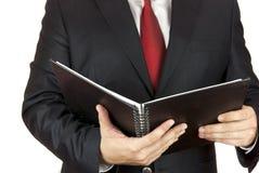 Zakenman en notitieboekje Stock Fotografie