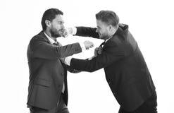 Zakenman en politicus het vechten royalty-vrije stock afbeelding