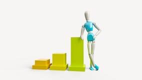 Zakenman en statistieken Royalty-vrije Stock Foto
