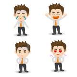 Zakenman Facial Expressions Stock Afbeeldingen