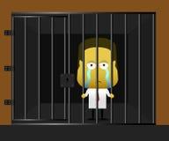 Zakenman in gevangenis Royalty-vrije Stock Afbeeldingen