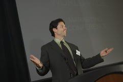 Zakenman Giving een Lezing op Conferentie royalty-vrije stock foto