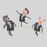Zakenman het in evenwicht brengen op kabel royalty-vrije illustratie